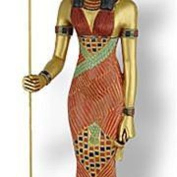 Isis Egyptian Mother Goddess Standing Sculpture 9.25H