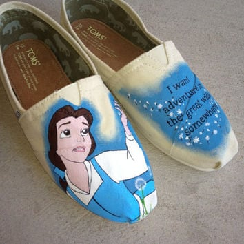 Custom Hand Painted Shoes - Belle