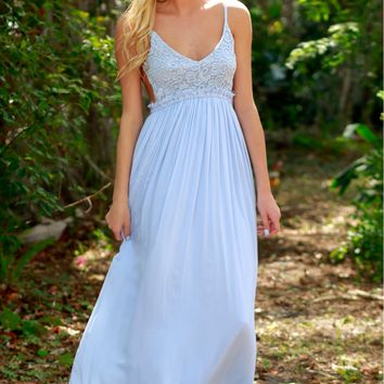 Bohemian Ball Lace Maxi Light Blue