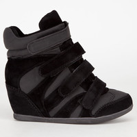 De Blossom Thunder Womens Sneaker Wedges Black/Black  In Sizes
