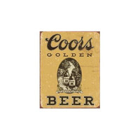 Tin Sign: Coors Golden Vintage