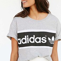 PEAPON1 Adidas Women Gray Loose Tee T-shirt