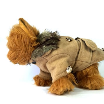 Brown Dog Trench Coat