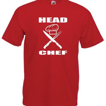 HEAD CHEF - Funny Cook Tee - Knife Chef Hat T-shirt