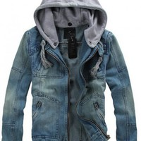 # Free Shipping# Men  Jean Casual Jacket Coat M/L/XL  HS0D13-1 from ViwaFashion