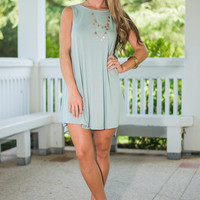 Easy Day In Love Dress, Sage