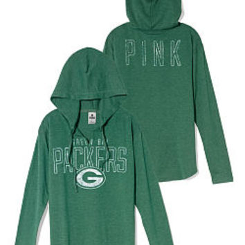 Green Bay Packers Tunic Hoodie - PINK - Victoria's Secret