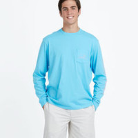Long-Sleeve Vintage Whale Graphic T-Shirt