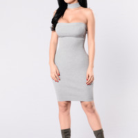 Simple Things Dress - Heather Grey