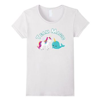 Team Magic Unicorn Narwhal Squad T-Shirt Cute Chubby Rainbow
