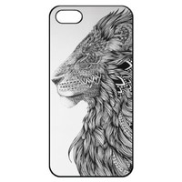 Lion Head Art Hard Back Iphone 5 5s Shell Case Cover Skin for Iphone 5/5s Cases - Black/white/clear