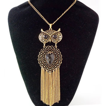 Fashion Owl Gypsy Vintage Choker Collar Ethnic Bohemian Statement Necklace