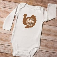 Thanksgiving Iron On, Turkey Monogram, Football Monogram, DIY Thanksgiving, Baby First Thanksgiving