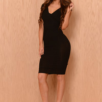 Crossed Dress - Black