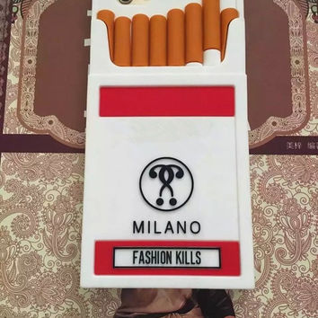 Luxury Moshino 3D Cigarette Cover Case for iPhone 5/5s/SE/6/6s/6plus/6s plus Phone Case