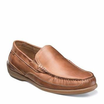New Florsheim Men's Moto Venetian Tan Nubuck  Slip-on Shoes