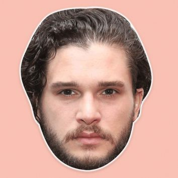 Confused Kit Harington Mask - Perfect for Halloween, Costume Party Mask, Masquerades, Parties, Festivals, Concerts - Jumbo Size Waterproof Laminated Mask