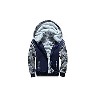 Under Armor Winter New Men's Korean Slim Men's Tattoo Hooded Casual Set