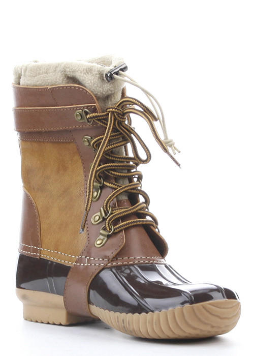 Muriel Thermal Fleece Insert Duck Boots From Shop Daily Chic