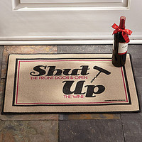 Shut Door Open Wine Doormat