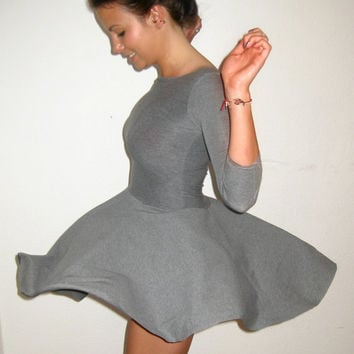 Full Circle Dress Cotton Jersey Stretch many by ThisIsClothing