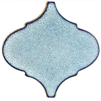 Sky Blue Arabesque Tile