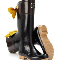 Black Evedon Womens Premium Rain Boot  | Joules US