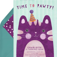 Time To Pawty Invitations | Greenvelope.com