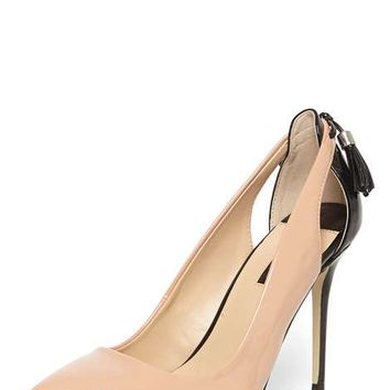 Nude 'Eloise' Tassel Back Court Shoes - View All New In - New In