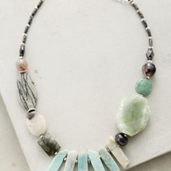 Faroe Bib Necklace by Anthropologie in Mint Size: One Size Necklaces