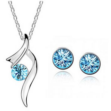 Ballerina Blue Necklace and Earring Set
