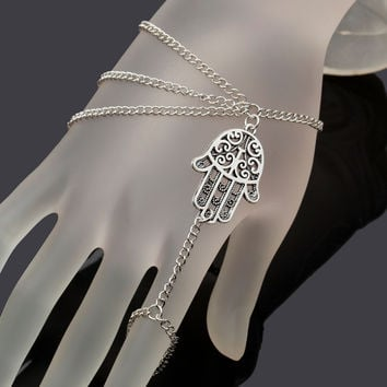 finger ring hand chain harness  women New