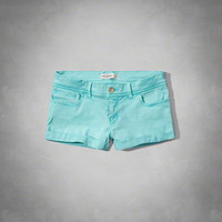 a&f low rise twill shorts