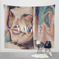 Vogue Wall Tapestry by Mrs Araneae | Society6
