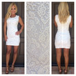Selena Crochet Lace  Dress - WHITE