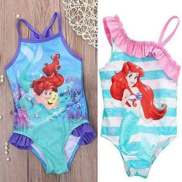 DCCK7N3 Hot girls one piece little mermaid ballet swimwear bikini meisje girls bathing suits baby swimming suit toddler