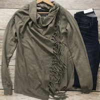 The Asymmetrical Cardigan- Mocha