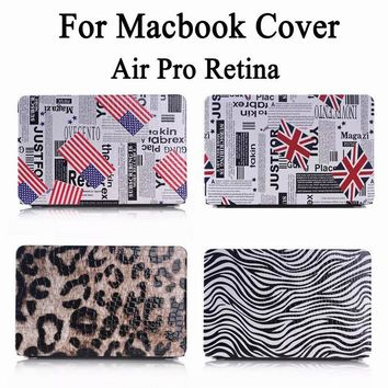 "For Apple Macbook Air Pro Retina 11 12 13 15 inch 11.6"" 12"" 13.3"" 15.4"" Fashion Flag Leopard Zebra Hard Cover Case"