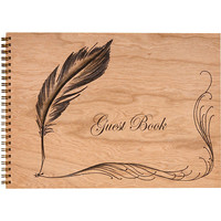 Wood Bound Journal Guest Book
