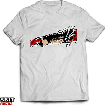 Persona 5 Protagonist Japanese Gaming Unisex T-Shirt White Cotton