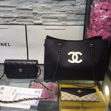 Year-End Promotion 3 Pcs Of Bags Combination (Chanel Bag ,Chanel Mid Bag ,Gucci Wallet)