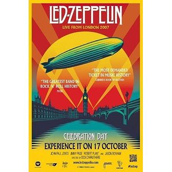 Led Zeppelin Celebration Day poster Metal Sign Wall Art 8in x 12in
