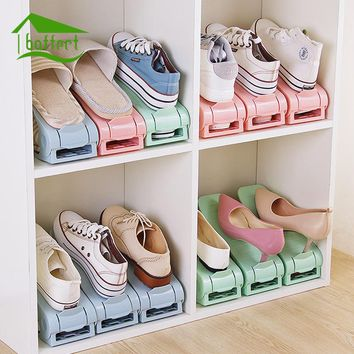 6 Colors Shoe Organizer Double-Wide Shoe Holder Cleaning Shoes storage Save Space Shoe Rack Stand Shelf for Living Room