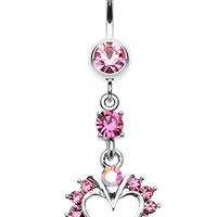 Heart Dazzle Belly Button Ring