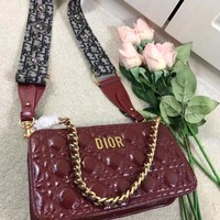 Dior  Women Leather Shoulder Bag Satchel Tote Handbag