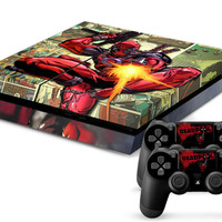 Deadpool Skin for PS4 + 2 controllers