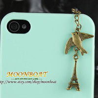 Dust Proof Plug-3.5mm Retro Eiffel Tower Dust For iphone 4s,iPhone 4,iPhone 3gs,iPod Touch 4,HTC,Nokai,Samsung,Sony MB643