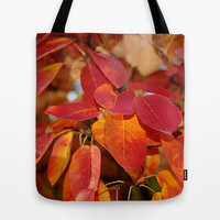 Autumn Glory - Serviceberry leaves Tote Bag by RVJ Designs