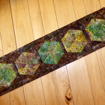 Small Quilted Table Runner Fall Autumn Decor