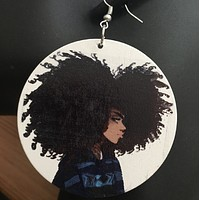 Frieda | Natural hair earrings | Afrocentric earrings | Afro earrings | jewelry | accessories